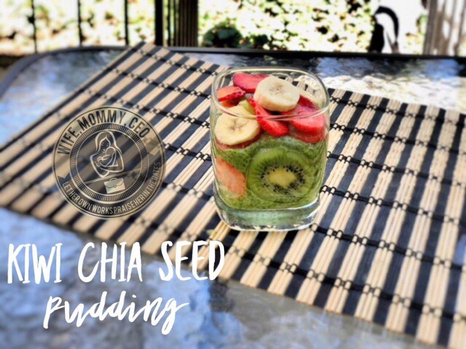 Kiwi chia seed pudding